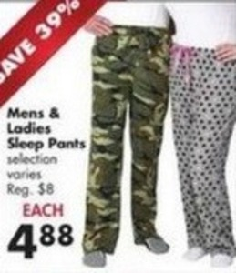 Men's & Women's Ladies Sleep Pants