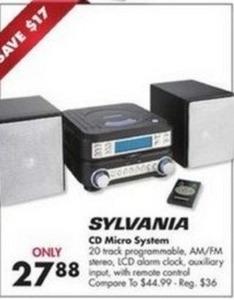 Sylvania CD Micro System