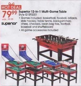 Superior 12-in-1 Multi-Game Table
