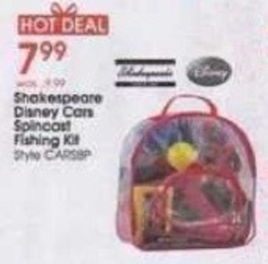 Shakespeare Disney Cars Spincost Fishing Kit
