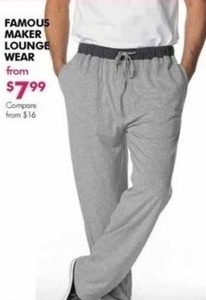 Famous Maker Men's Lounge Wear
