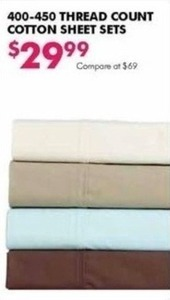 400-450 Thread Count Cotton Sheet Sets