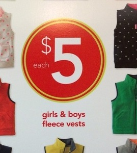 Girls & Boys Fleece Vests