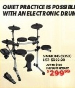 Simmons Electronic Drum Set