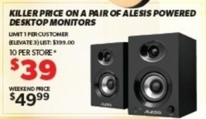 Pair of Alesis Powered Desktop Monitors