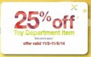 Toy Department Item w/ Coupon (11/2 - 11/8)
