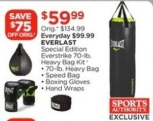 Everlast Special Edition Everstrike 70-lb Heavy Bag Kit