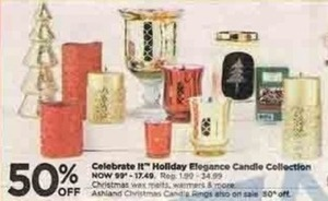 Celebrate It Holiday Elegrance Candle Collection