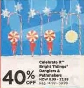 Celebrate It Bright Tidings Danglers and Pathmarkers