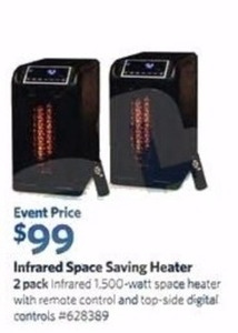 Infrared Space Saving Heater