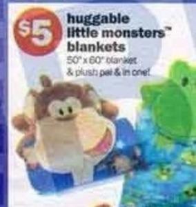 Huggable Little Monster Blankets
