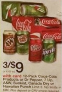 12pk Coca Cola Products or Dr Pepper, 7 UP & More