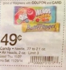 Nestle / Air Heads Candy (After Coupon)