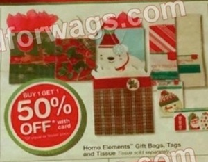 Home Elements Gift Bags, Tags, and Tissue