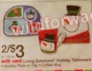 Living Solutions Holiday Tableware, Novelty Plate, Tray or Coffee Mug
