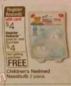 Children's Neilmed Nassabulb + $4 Register Rewards