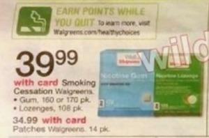 Walgreens Smoking Cessation Gun or Lozenges