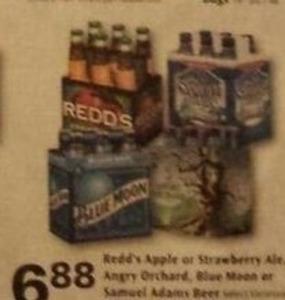 Redd's Apple or Strawberry Ale