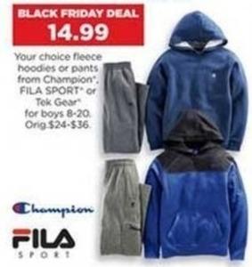 Boys' Tek Gear Fleece Hoodie or Pants