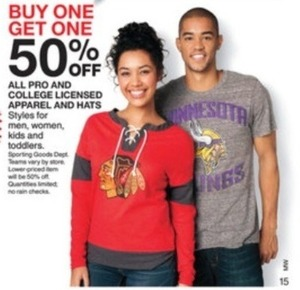 Entire Stock Kids' Pro and College Licensed Apparel and Hats