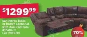 San Marco Sectional w/ Dual Recliners
