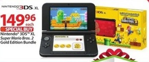Nintendo 3DS XL Super Mario Bros. 2 Gold Edition Bundle - Thursday