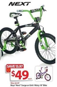 """Boys' Next Surge 18"""" Bike"""
