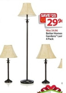 Better Homes and Gardens Lamp Set 4 Pack