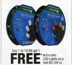 LED Lights on a Reel $19.99 or more (60-120 ct)