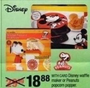 Disney Waffle Maker or Peanuts Popcorn Popper