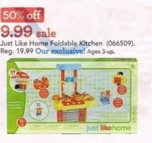 Just Like Home Foldable Kitchen Playset