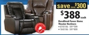 BuraBlend Power Home Theater Recliners
