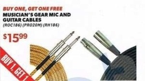 Musician's Gear Mic & Guitar Cables