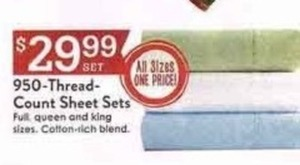 950 TC Sheet Sets