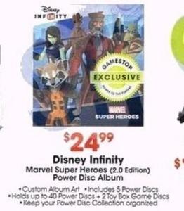 Disney Infinity 2.0 Marvel Super Heroes Power Disc Album