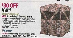 Ameristep Ground Blind