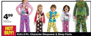 Kids' 2-PC Character Sleepwear & Sleep Pants
