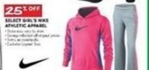 Select Nike Girls' Athletic Apparel