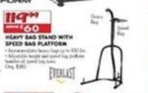 Heavy Bag Stand With Speed Bag Platform
