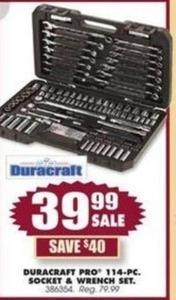 Duracraft Pro 114-PC Socket & Wrench Set