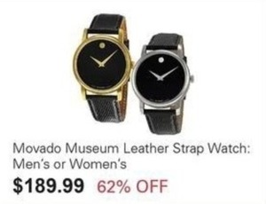 Movado Museum Leather Strap Watch