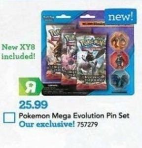 Pokemon Mega Evolution Pin Set