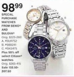 Select Citizen Watches