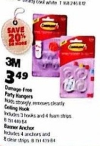 3M Damage Free Party Hangers