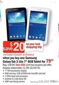 "Samsung Galaxy Tab 3 Lite 7"" 8GB Tablet"