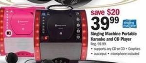 Singing Machine Portable Karaoke and CD Player