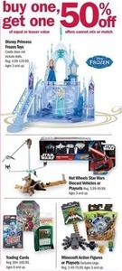 Select Frozen, Star Wars, Minecraft Toys