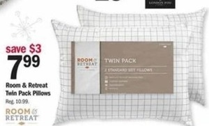 Room & Retreat Twin Pack Pillows