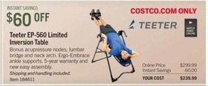 Teeter EP-560 Limited Inversion Table