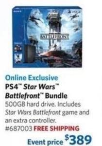 PS4 500GB Star Wars Battlefront Bundle